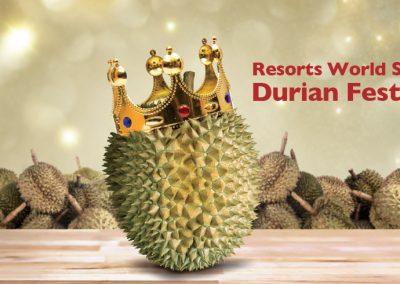 Singapore: Resorts World Sentosa (RWS) Durian Feast (19 – 21 Aug 2016)