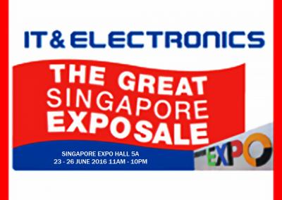 Singapore: IT & Electronics The Great Singapore Expo Sale 2016! (23 – 26 Jun 2016)