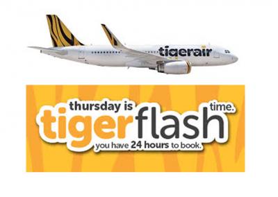 Singapore: TigerAir's Thursday 24-Hour Flash SALE – Tickets Starts from $5! (23 Jun 2016)