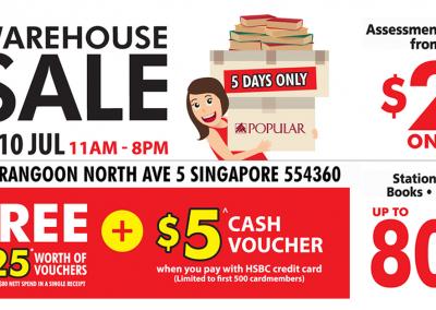 Singapore: Popular BookStore WareHouse Sales! (6 – 10 Jul 2016)
