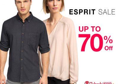 Singapore: ESPRIT – Up to 70% Off & Additional 20% Off with Minimum 3 Items at Takashimaya Talking Hall (Till 26 Jul 2016)