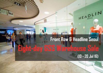 Singapore: Front Row and Headline Seoul – GSS Warehouse Sale (13 – 20 Jul 2016)
