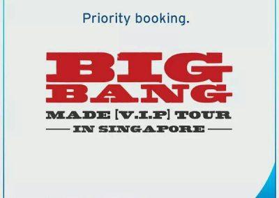 Singapore: Big Bang 2016 Made [V.I.P] Tour Priority Tickets for Citibank Card Members (1 – 2 Sep 2016)