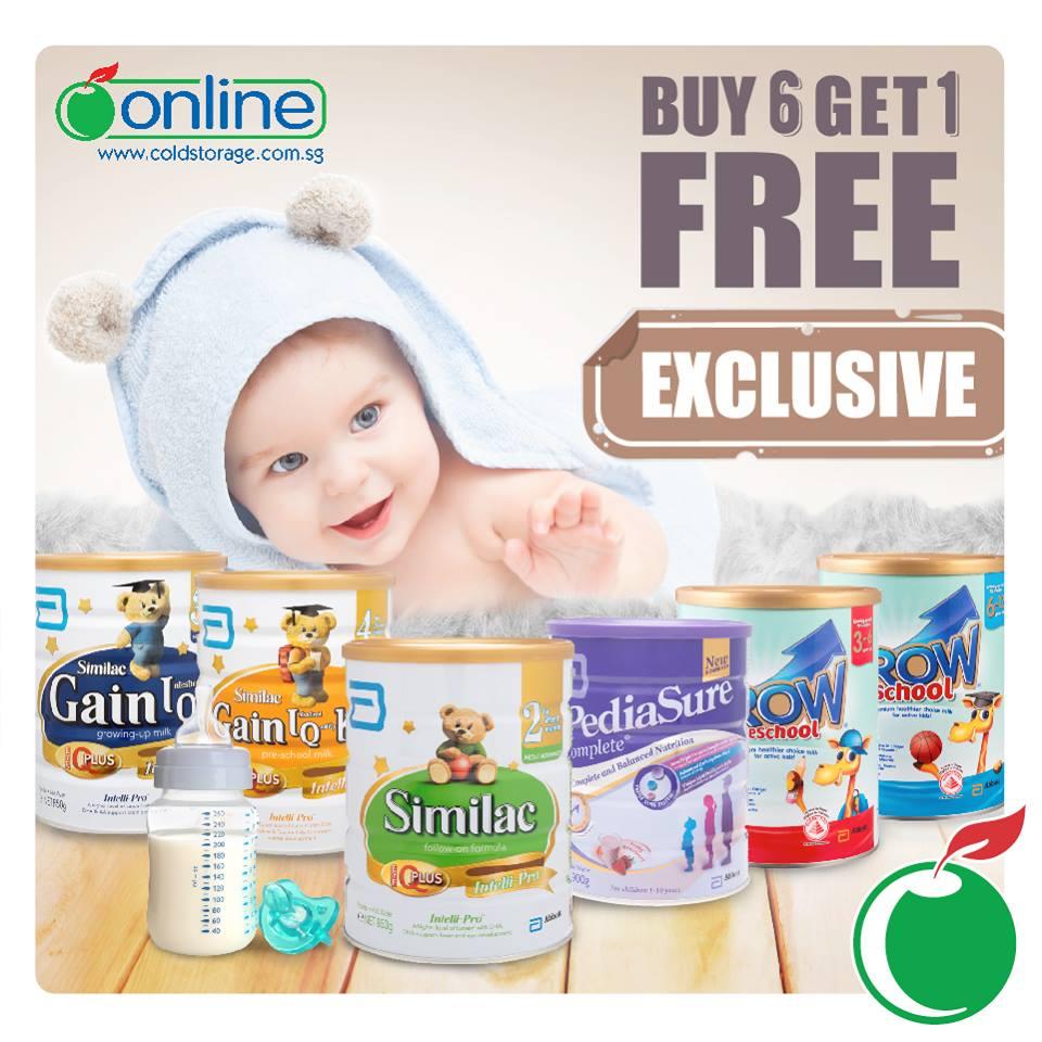 Singapore: Cold Storage – Milk Powder Buy 6 Get 1 Free (24 – 28 Aug 2016)