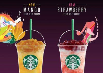 Singapore: Starbucks – New Mango and Strawberry Fruit Jelly Yogurt Frappuccino® (From 10 Aug 2016)