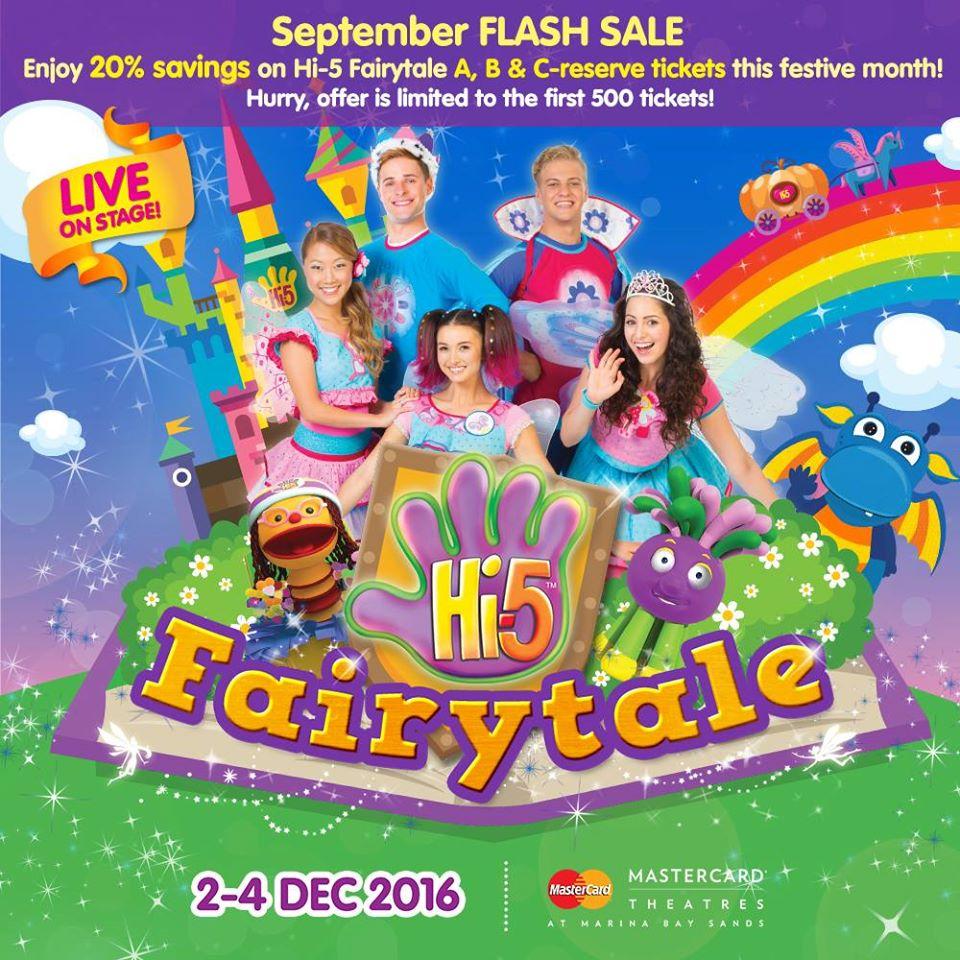 Singapore: Hi-5 20% Off A, B, C-reserve Tickets (Till End Sept 2016)