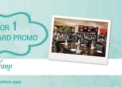Singapore: Furama City Centre – 1-For-1 Buffet At Tiffany Café & Restaurant for AMEX Cardholders (Till 31 Dec 2016)
