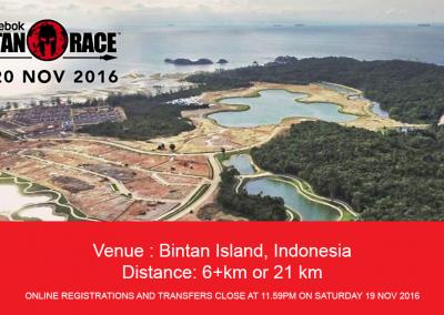 Singapore: Spartan Race (Bintan) (19th & 20th Nov 2016)