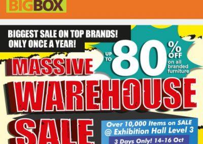 Singapore: Big Box Massive Warehouse Sales (14 to 16 Oct 2016)