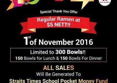 Singapore: Ramen Keisuke Tori King – $5 NETT Regular Ramen Offer (1 Nov 2016 Only)