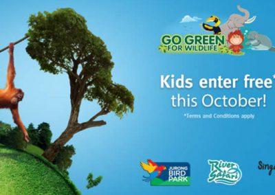 Singapore: Wildlife Parks: Kids Enter for FREE* at Bird Park, River Safari & Singapore Zoo until 31 Oct 2016