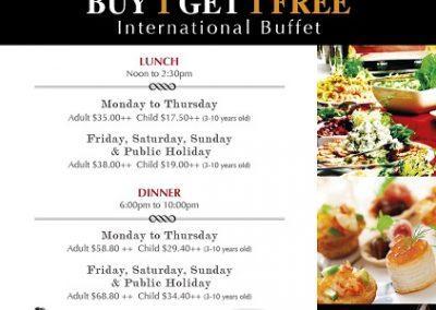 Singapore: Hotel Miramar – Buy-1-Get-1 FREE International Buffet @ The Fern Tree Café (Till 31 Dec 2016)