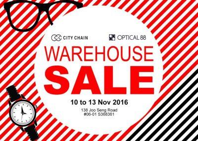 Singapore: City Chain & Optical 88 Warehouse Sales (10 to 13 Nov 2016)