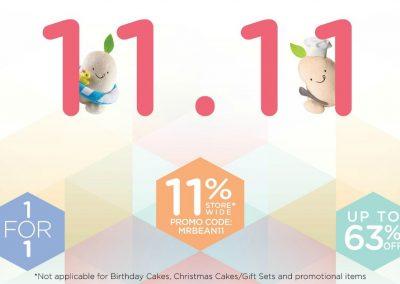 Singapore: Mr Bean – 11% Off Storewide at 11.11 craze up! (11-13 Nov 2016)
