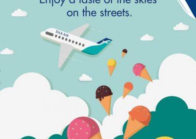 Singapore: Silkair – Enjoy Ice-Cream from the skies (Skice Cream) on Silkair this November!