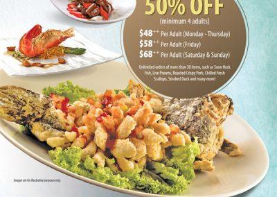 Singapore: Peach Garden @ Hotel Miramar – 50% Off Lunch & Dinner A La Carte Buffet and Dim Sum (Till 30 Nov 2016)