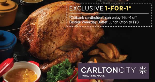 Singapore: Citibank Cardholders- Enjoy 1-for-1 Weekday ...