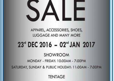 Singapore: Crocodile – Annual Warehouse Sale (23 Dec 2016 – 2 Jan 2017)