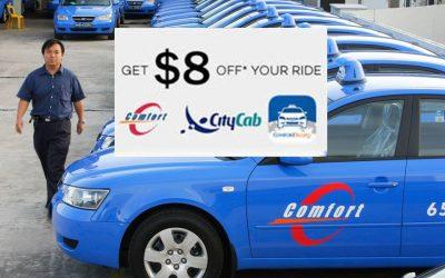 Singapore : Get $8 off your taxi fare when you book via ComfortDelGro
