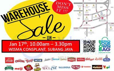 Malaysia: Delfi Marketing Warehouse Sales, 1-day ONLY (17 Jan 2017)