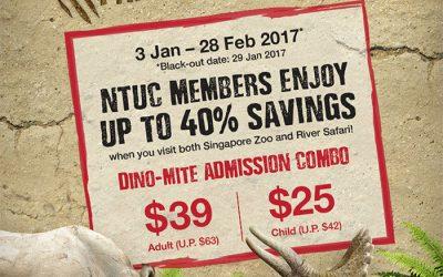 Singapore: Enjoy Up to 40% Savings when visit Singapore Zoo and River Safari for NTUC Members (Till 28 Feb 2017)