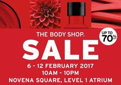 Singapore: The Body Shop – Up to 70% Off at Novena Square Atrium (6 – 12 Feb 2017)