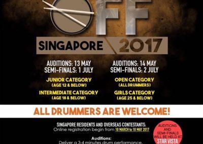 Singapore: Event; Singapore Drum Fest's – Drum Off Singapore
