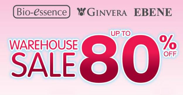 Singapore: Bio-Essence x Ebene x Ginvera Warehouse Sale Up to 80% Off from 2-7 Mar 2017