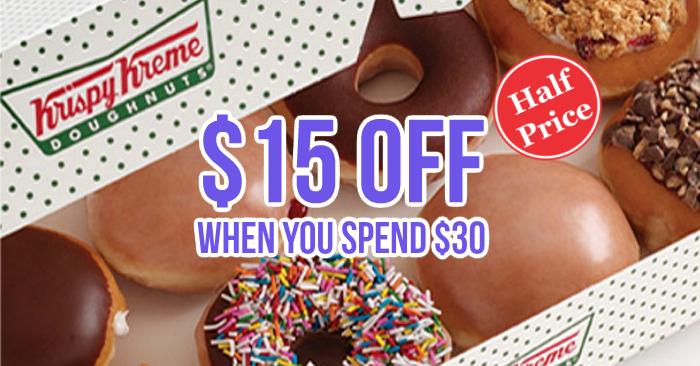 Singapore: Krispy Kreme – Enjoy 50% OFF with min. $30 Order from Foodpanda (Till 31 Mar 2017)
