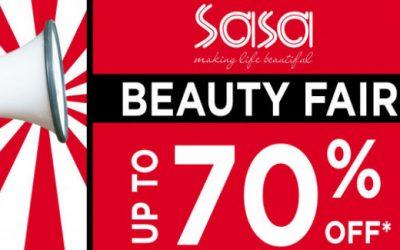 Singapore: Sasa Beauty Fair at Causeway Point Up to 70% Off till 5 Mar 2017