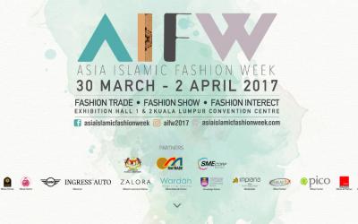 Malaysia: AIWF, Asia Islamic Fashion Week (30th March to 2nd April 2017)