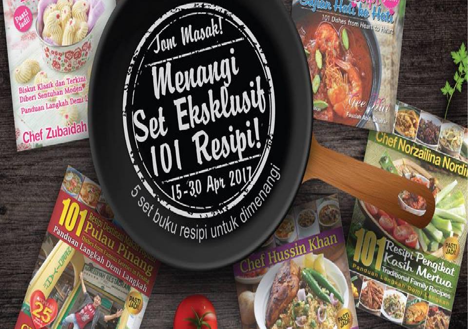 Malaysia:Popular, Win A Set Of Exclusive 101 Recipe (15-30th. April 2017)