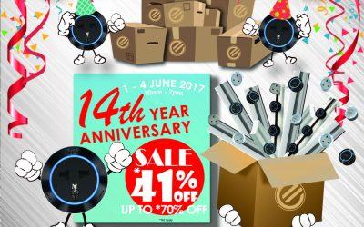 Malaysia: Exaltech 14th Anniversary BIG SALE (1-4 June)