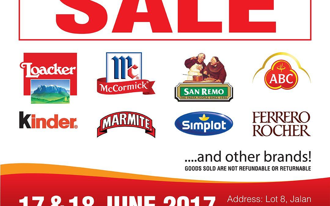 Malaysia: GBA Warehouse Sales 17th-18th June 2017