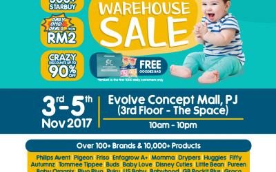 Malaysia: Motherhood.com.my Warehouse Sale at Evolve Concept Mall (3-5 Nov 2017)