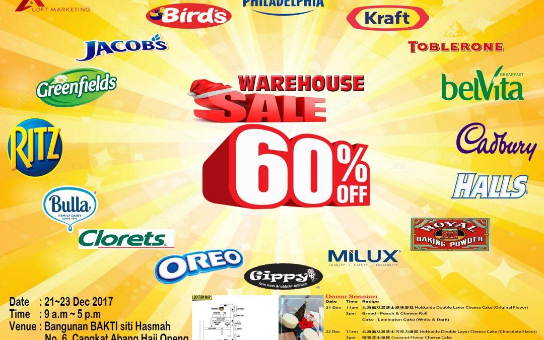 Malaysia: Warehouse Sales TTDI (21 – 23 Dec 2017)